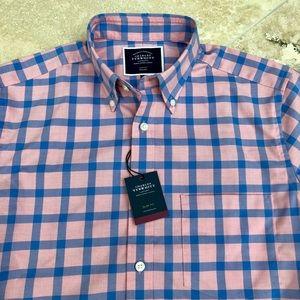 NWT! Men's Slim Fit Blue Dress Shirt! Small